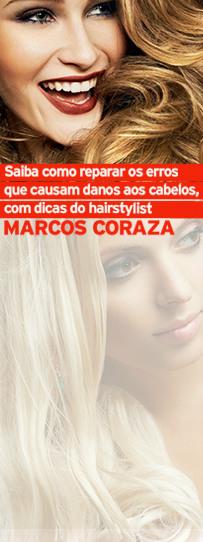 Saiba como reparar os erros que causam danos aos cabelos, com dicas do hairstylist Marcos Coraza
