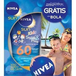 Protetor solar Nivea Sun Kids Fps 60 com Bola Azul Grátis